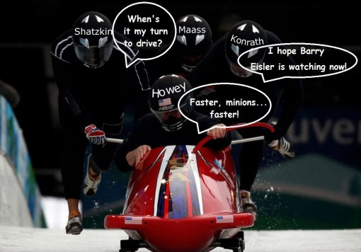 Mick Rooney publishing bobsled team parody