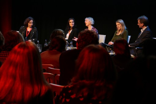 From left, a London Author Fair panel on distribution features Ruth Jones (Ingram), Camille Mofidi (Kobo), consultant Sheila Bounford, Anna Lewis (ValoBox), and Darren Hardy (Amazon)