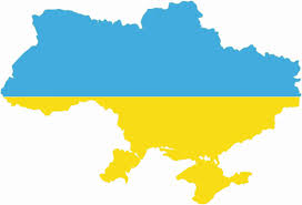 A map of the Ukraine which does not depict the annexation of the Crimea by Russia.
