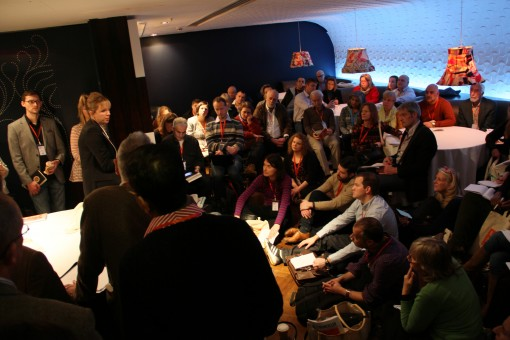 A standing-room-only marketing session at covent Garden's The Hospital Club during London Author Fair