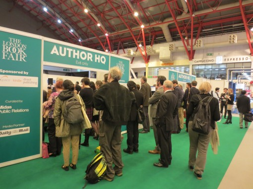 An event at London Book Fair's Author HQ draws an overflow audience. Photo: Porter Anderson