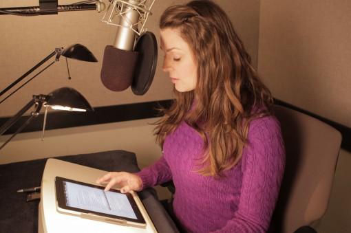 Lauren Fortgang recording for the ACX program.