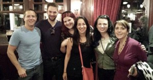 From left, Hugh Howey, Jack Wilder, Jasinda Wilder, Bella Andre, Liliana Hart, Stephanie Bond.