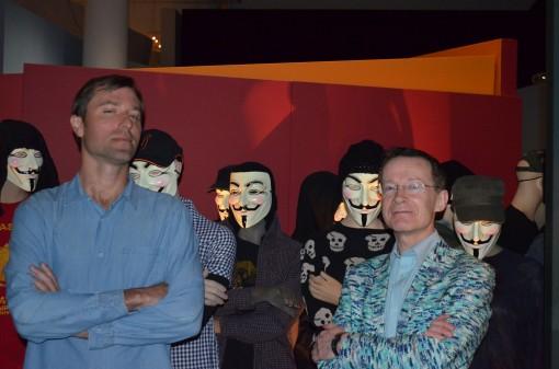 John Harris Dunning (l) and Paul Gravett (r)