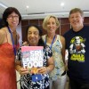 The Four Wallas team with their first cookbook, Sri Lanka Food.