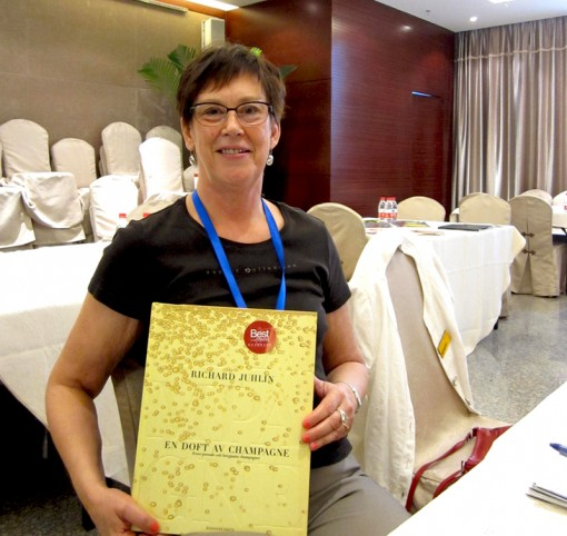 Ulla Joneby, Rights Director at Bonnier, with the book she sold to Artron in China