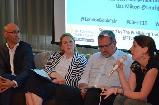 The Panel: Neil Morrison, Lisa Milton, Peter McKay, and Anna Rafferty.