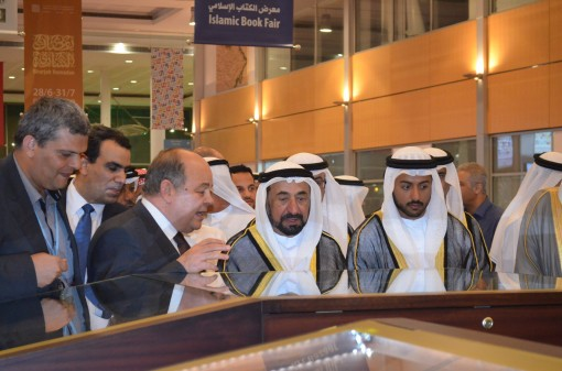 His Highness tours the exhibition.