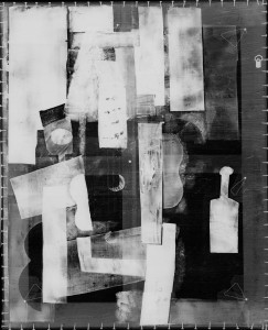 Example of an x-ray image of one of Picasso's works from the book.
