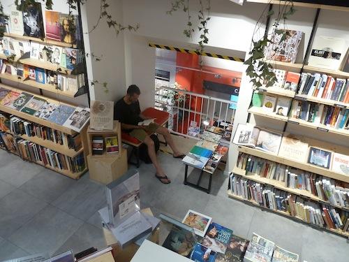 A book balcony