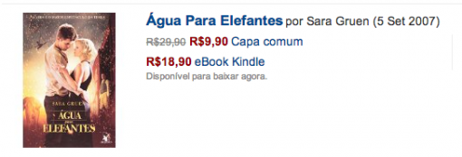 In several cases on Amazon's Brazil site, the ebook is priced far higher than the print book.