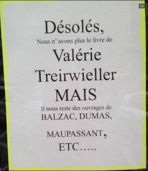 France book sign