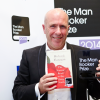 Richard Flanagan shows off his 2014 Man Booker Prize