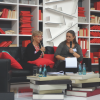 Dr. Tuula Karjalainen and Anke Michler-Janhunen at the Frankfurt Book Fair