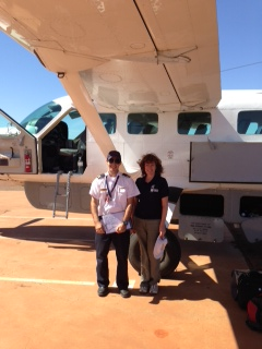 Karen Williams en route to Alice Springs