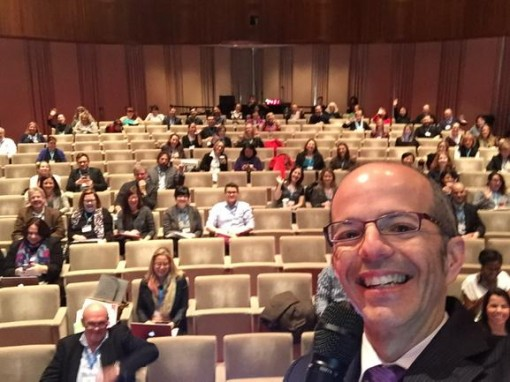 Selfie from the stage at Nielsen Children's Book Summit  c/o @reyjunko