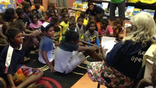 Storytime at Yakanarra community
