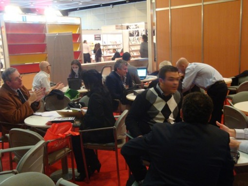 Opcion Libros hosts business meetings during the Buenos Aires International Book Fair.