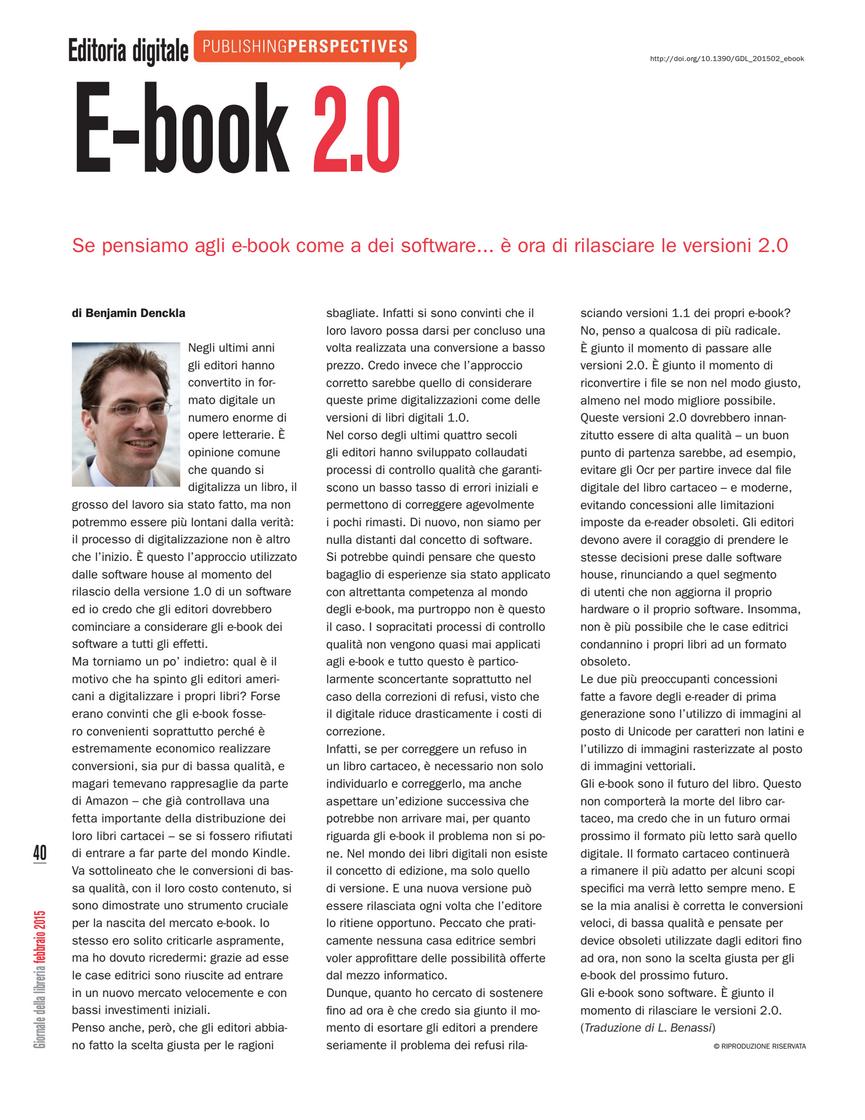 Ebook 2.0 In Italian