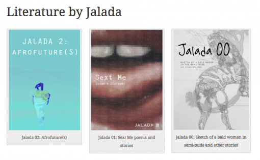 A selection of Jalada's titles.