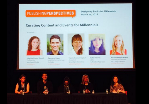 "The ""Curating Content and Events"" panel at Publishing Perspectives' ""Designing Books for Millennial Readers"" conference last Thursday."
