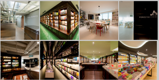 Photos of the Page One Bookstore in Harbour City, Hong Kong