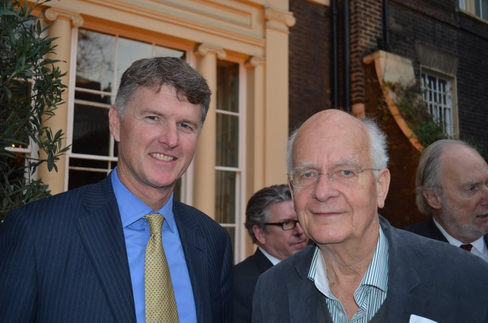 HarperCollins' Brian Murray, left, and Peter Usborne