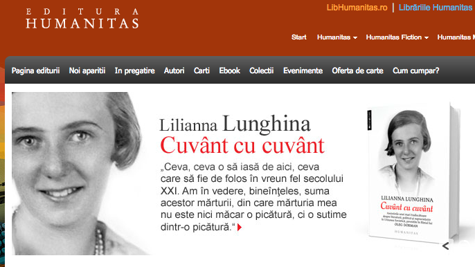 Humanitas, one of Romania's top publishers, reports