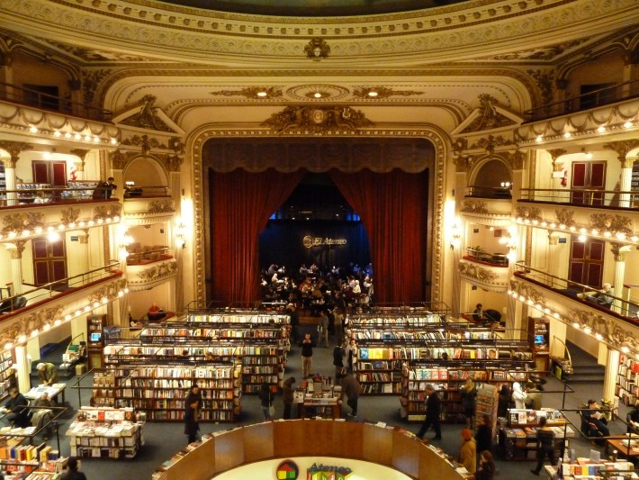 El Ateno Grand Splendid in Buenos Aires is widely considered one of the most beautiful bookstores in the world.