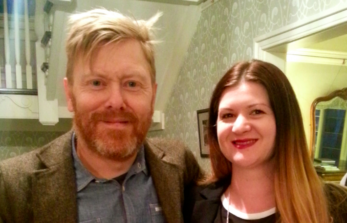 Jon Gnarr and Izidora Angel