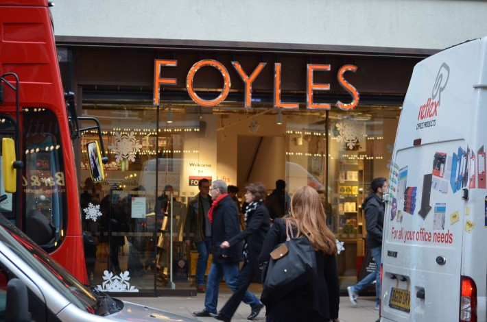 Foyles' busy frontage