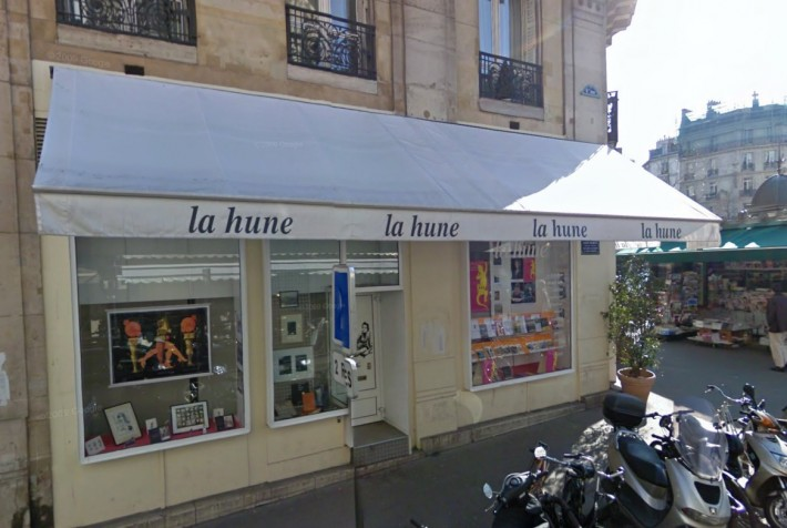The original St. Germain-du-Pres location of La Hune (Photo: Actualitte)