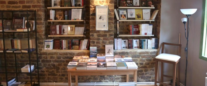 The  interior of Pages Bookshop, Istanbul
