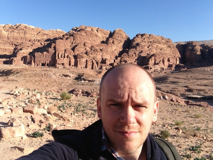 Nathan Hull at Petra in Jordan.