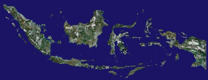 Satellite Image of Indonesia