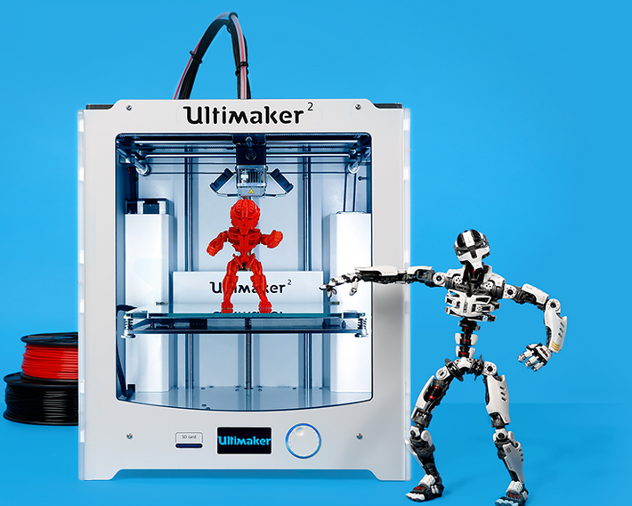 Ultimaker's modest-sized 3D printer may have implications in education.