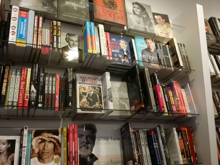 Inside Book Soup, LAX...yes, that is Rob Lowe lookin' at ya.