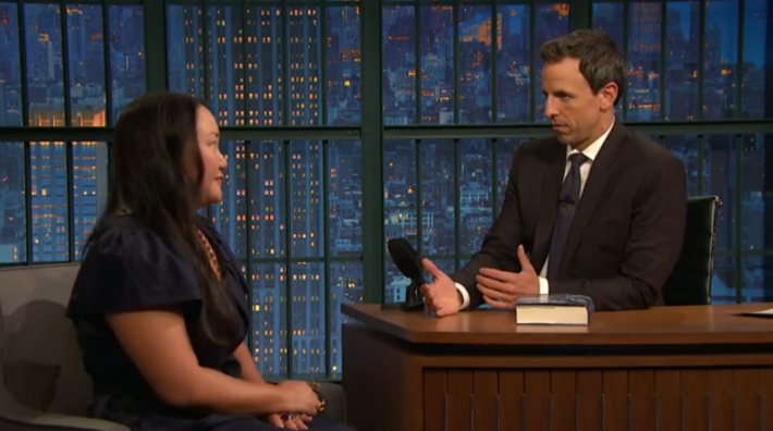 Novelist Hanya Yanigahara on Late Night with Seth Meyers.
