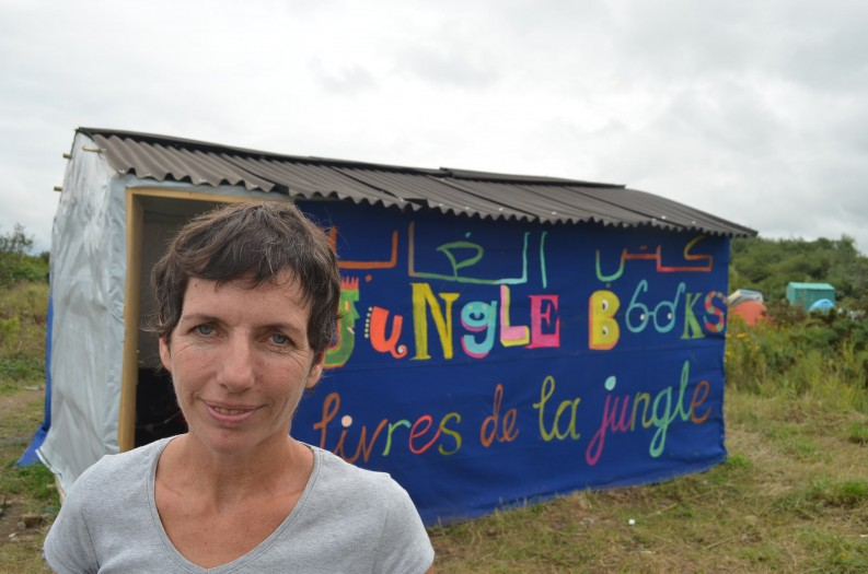 Mary Jones and her newly-opened Jungle Books library