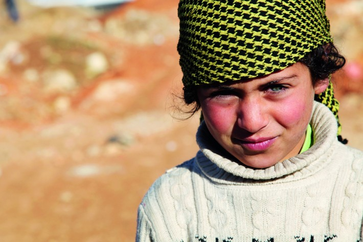 One of the Syrian chlidren who hopes to benefit from publication of the book.