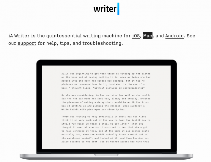 Writer Pro is one of several recommended tools to help you keep your focus on the work at hand.