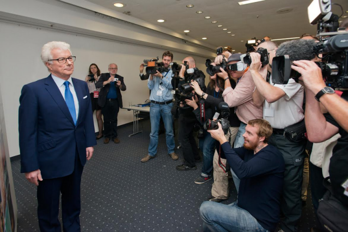 Ken Follett at the 2014 Frankfurt Book Fair (Copyright: Peter Hirth / Frankfurter Buchmesse)