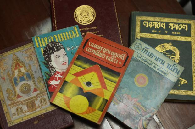 A selection of the rare Thai books mistakenly sold to a used bookstore in Bangkok.