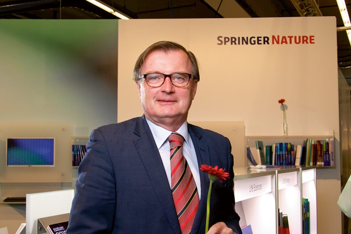 Springer Nature CEO Derk Haank at the Frankfurt Book Fair 2015
