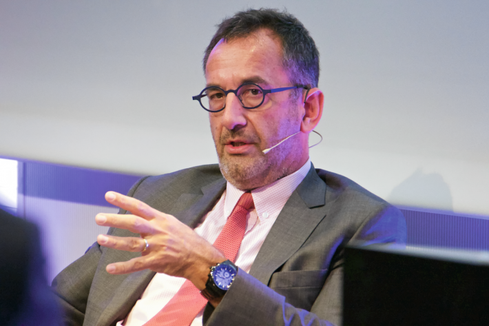 Hachette Livre CEO Arnaud Nourry spoke at the 2015 Frankfurt Book Fair
