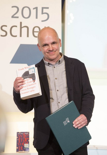 Frank Witzel wins the German Book Prize 2015 (Photo © Claus Setzer / Börsenverein)