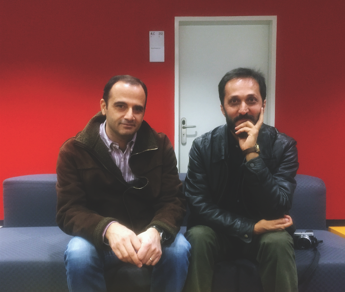 Hadi Taghavi (left) and Mahmoud Reza Bahmanpour (right) of Nazar Art Publications in Iran