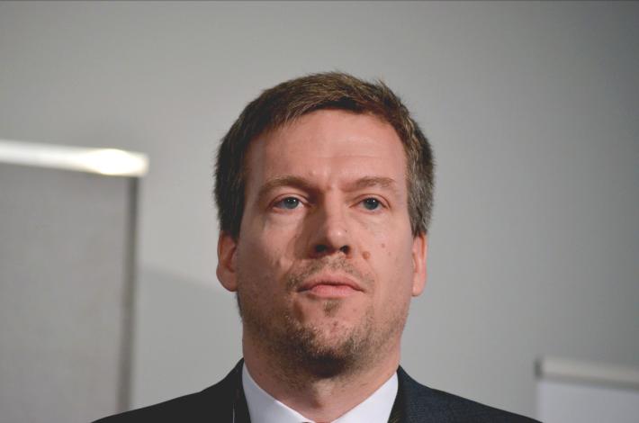 Niels Peter Thomas of Springer Nature at the Frankfurt Book Fair 2015