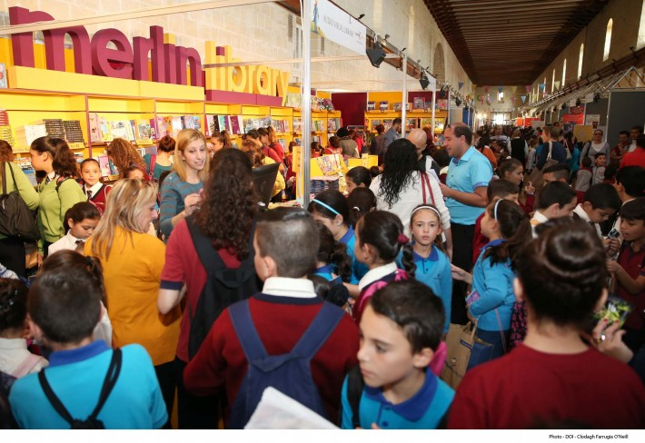 Crowds thronged for a book fair in Europe's smallest country.