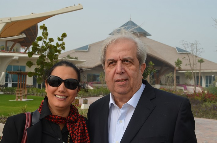 Nasser Jarrous and children's storyteller Wafa Mezghani from Tunisia